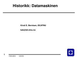 Historikk: Datamaskinen