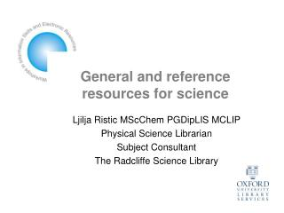 General and reference resources for science
