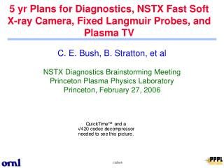 5 yr Plans for Diagnostics, NSTX Fast Soft X-ray Camera, Fixed Langmuir Probes, and Plasma TV