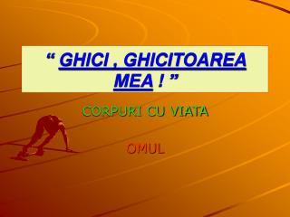 """""""  GHICI , GHICITOAREA MEA  ! """""""
