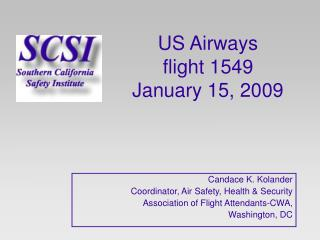 US Airways  flight 1549  January 15, 2009