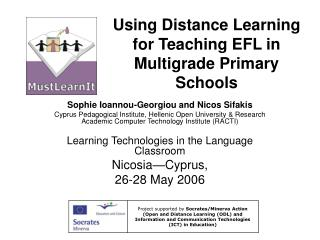 Using Distance Learning for Teaching EFL in Multigrade Primary Schools