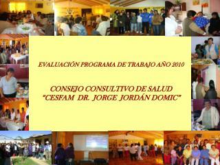 ACTIVIDADES REALIZADAS (Coordinación con la red de Salud,  Equipo del Cesfam e intersector)