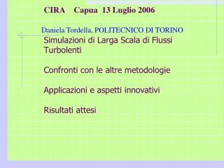 Daniela Tordella, POLITECNICO DI TORINO