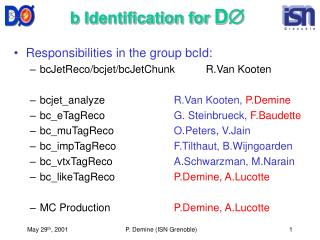 b Identification for  D Æ