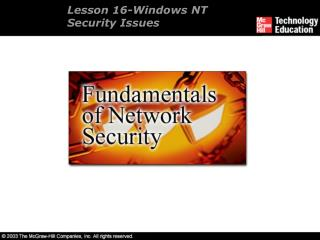 Lesson 16-Windows NT Security Issues
