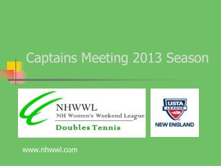 Captains Meeting 2013 Season