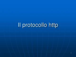 Il protocollo http