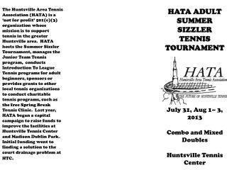 HATA ADULT  SUMMER SIZZLER TENNIS  TOURNAMENT