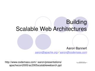 Building Scalable Web Architectures