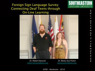 Foreign Sign Language Survey: Connecting Deaf Teens through On-Line Learning