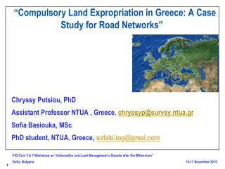"""Compulsory Land Expropriation in Greece: A Case Study for Road Networks"""