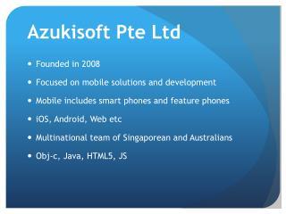 Azukisoft Pte Ltd