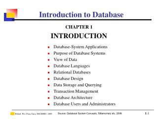 Introduction to Database