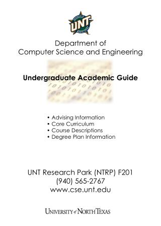 Department of  Computer Science and Engineering Undergraduate Academic Guide