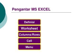 Pengantar MS EXCEL