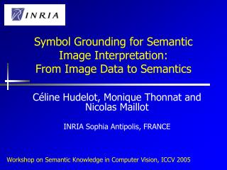 Symbol Grounding for Semantic Image Interpretation: From Image Data to Semantics