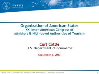 Curt Cottle U.S. Department of Commerce September 6, 2013