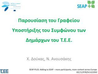 Παρουσίαση του Γραφείου Υποστήριξης του Συμφώνου των Δημάρχων του Τ.Ε.Ε.