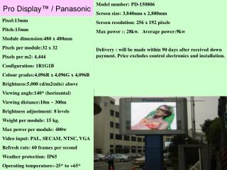 Pro Display ™ / Panasonic