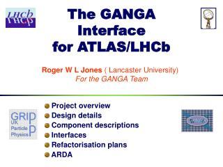 The GANGA Interface for ATLAS/LHCb