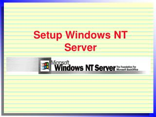 Setup Windows NT Server