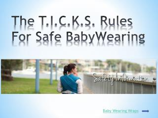 The T.I.C.K.S. Rules For Safe BabyWearing
