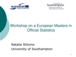 Workshop on a European Masters in Official Statistics