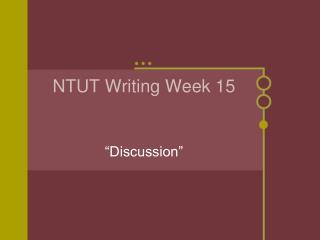 NTUT Writing Week 15