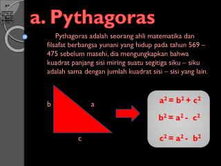 a. Pythagoras