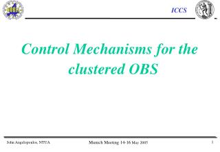Control Mechanisms for the clustered OBS