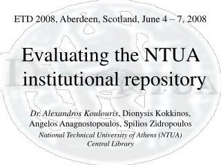 ETD 2008, Aberdeen, Scotland, June 4 – 7, 2008