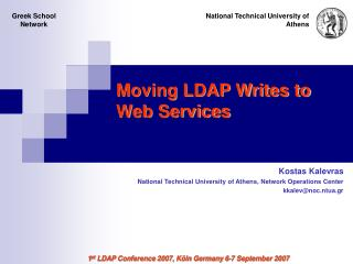 Moving LDAP Writes to Web Services