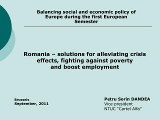 Balancing social and economic policy of Europe during the first European Semester