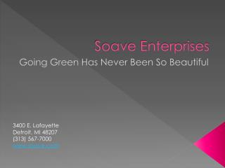 Anthony Soave of Soave Enterprises Goes Green