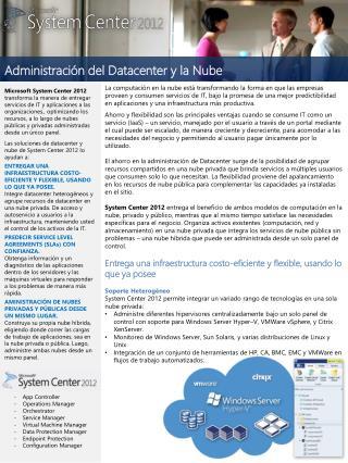 Administración del Datacenter y la Nube