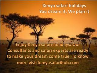 Kenya safari holidays - You dream it, we plan it