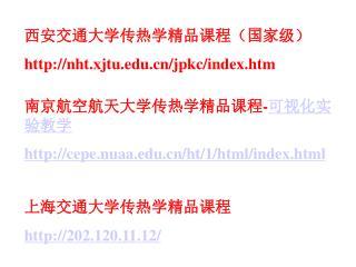 南京航空航天大学传热学精品课程 - 可视化实验教学 cepe.nuaa/ht/1/html/index.html