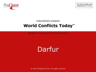 Darfur is a desert region located in the far west of Sudan, the biggest country in Africa.