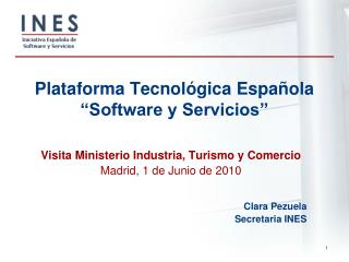 """Plataforma Tecnológica Española  """"Software y Servicios"""""""