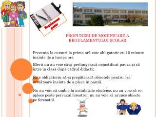 Regulament şcolar