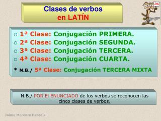 Clases de verbos en LAT�N