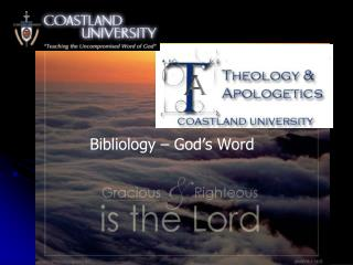 Bibliology – God's Word