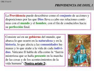 PROVIDENCIA DE DIOS, 1