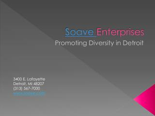 Soave Enterprises Promotes Diversity in Detroit