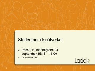 Studentportalsn�tverket