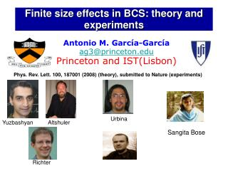 Finite size effects in BCS: theory and experiments