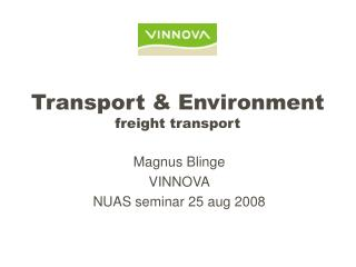 Transport & Environment  freight transport