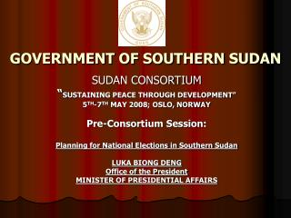 GOVERNMENT OF SOUTHERN SUDAN