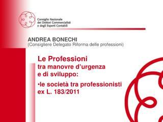 ANDREA BONECHI (Consigliere Delegato Riforma delle professioni)